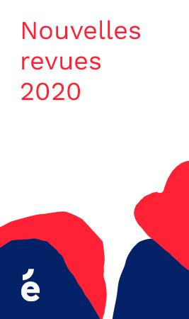 Nouvelles revues diffusées sur Érudit en 2020